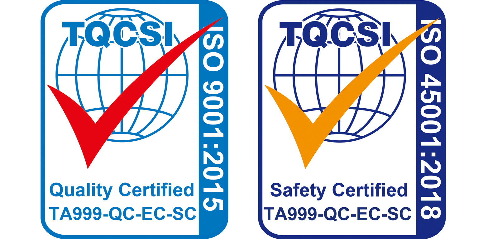 ISO Quality and Safety Certified